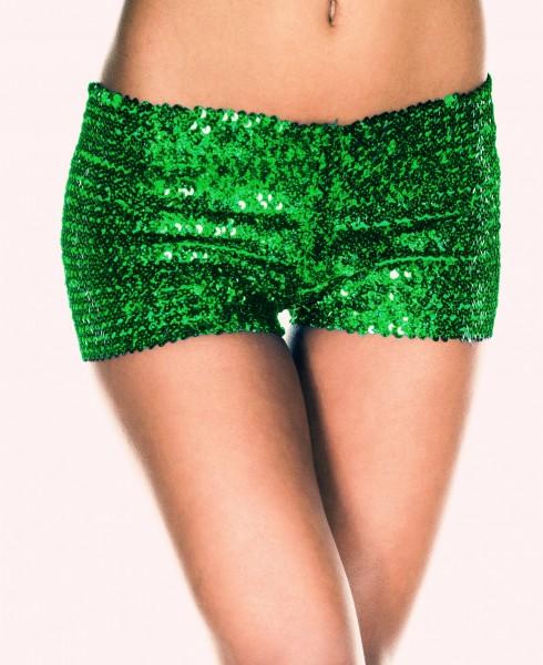 Green Sequin short Ladies