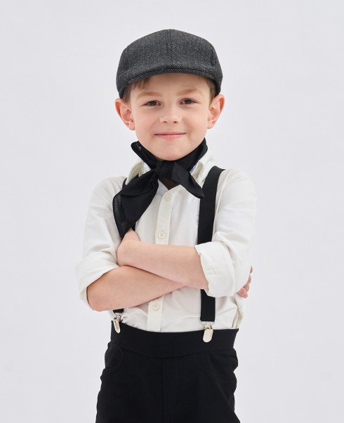 Kids Victorian boy colonial boy costume cap hat