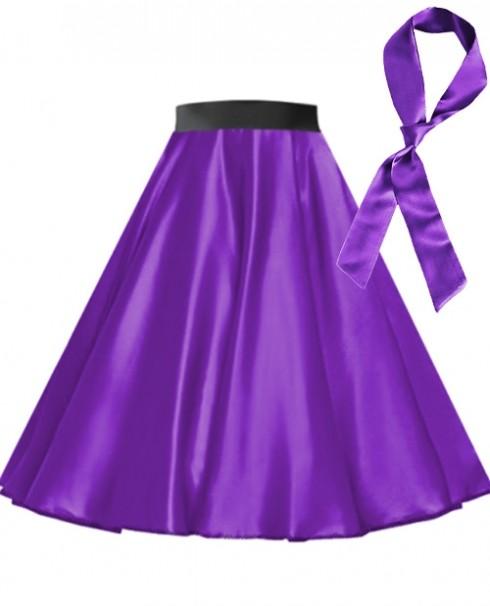 Purple Satin 1950's 50s skirt