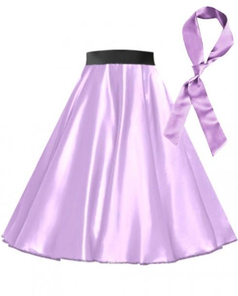 Light Purple Satin 1950's 50s skirt