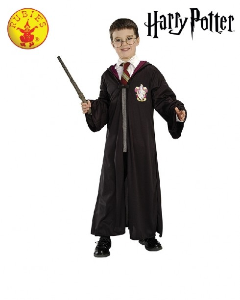 Rubies Official Harry Potter Blister Kit Wizard Halloween Fancy Dress Costume Kids Wizard Gryffindor Robe Glasses Wand