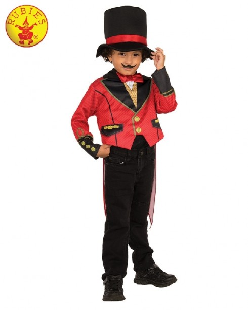 Ringmaster Child Costume Circus Showman Lion Tamer Top Tails Pants Hat