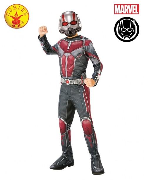 Deluxe Ant-Man Boys Fancy Dress Superhero Marvel Child Comic Book Day Kids Childrens Costume