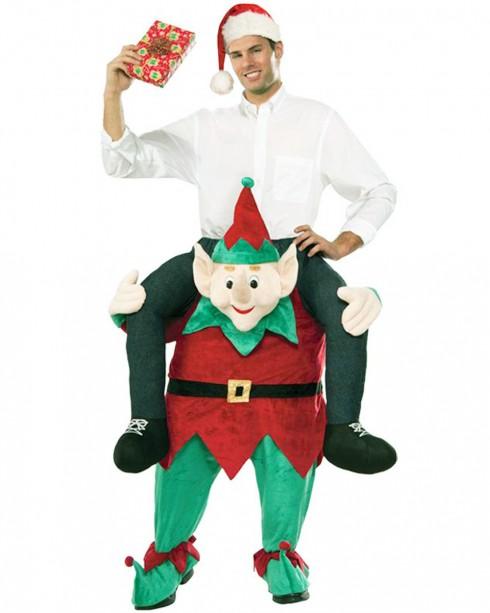 Shoulder Carry Me Piggy Back Ride On Costumes Elf