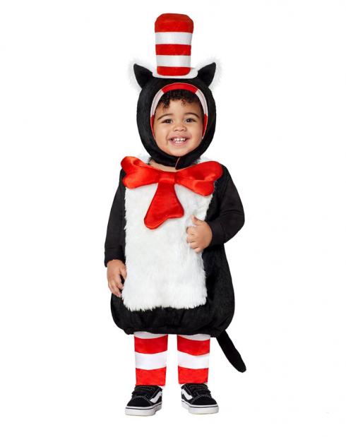 Infant Dr Seuss Cat In The Hat Jumpsuit front PP1005
