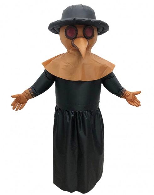 Bird Plague Doctor carry me inflatable fun costume front tt2037