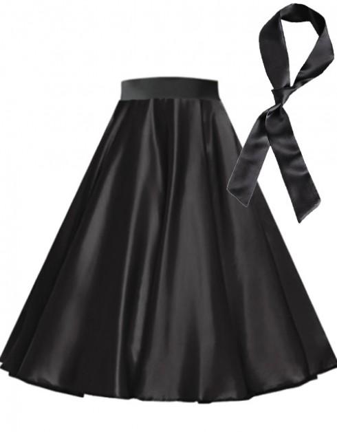 Black Satin 1950's 50s skirt