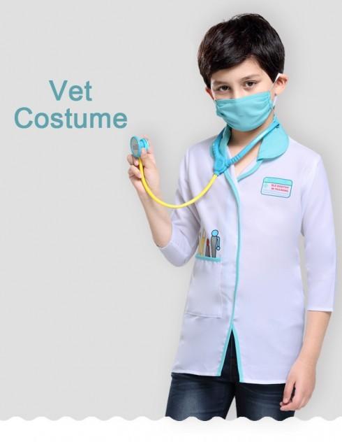 Kids Occupation Uniform Costume Doctor Surgeon Hospital Scientist School