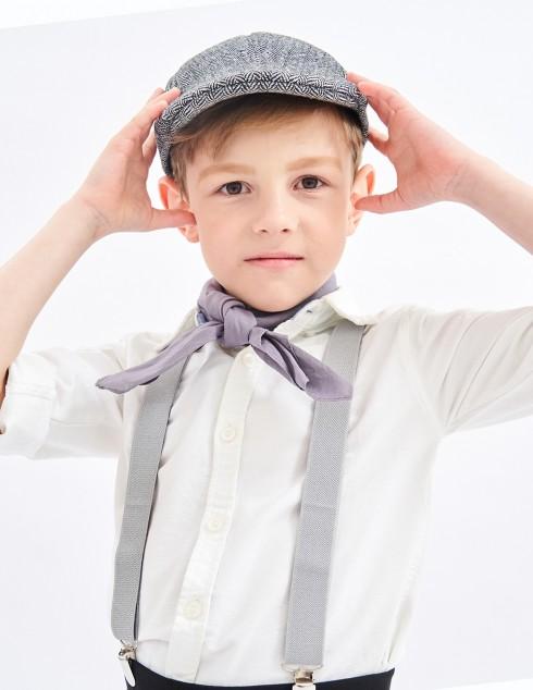 Victorian boy colonial boy costume accessory braces suspenders Grey