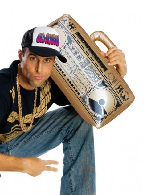 "19"" 1980s Hip Hop Inflatable Boom Box Radio tt1117_3"