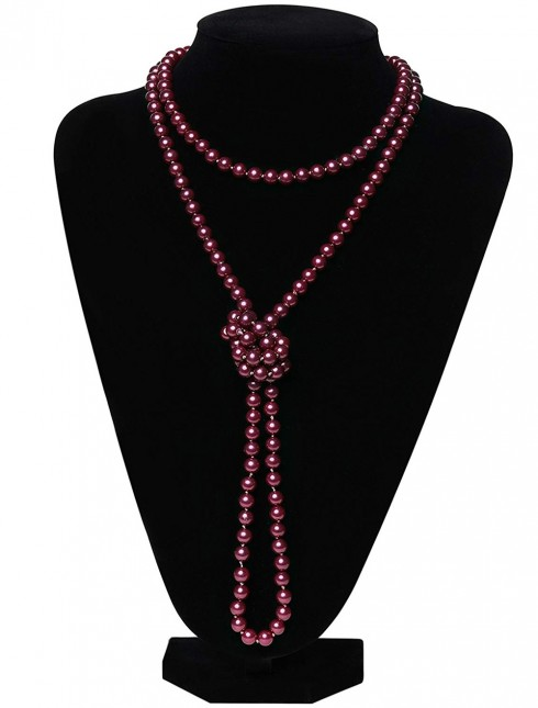 Red Deluxe 20s Flapper Costume Necklace