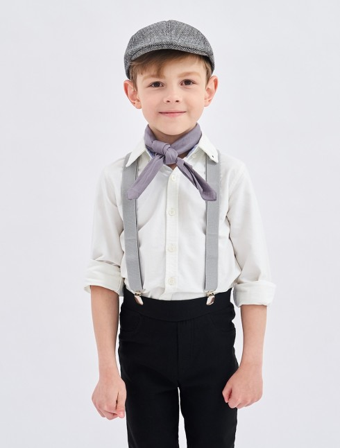 3pcs set Victorian boy colonial boy costume cap hat braces neckerchief kit