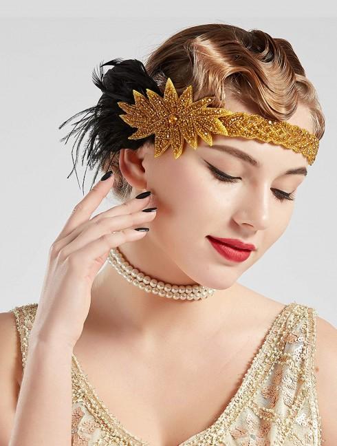 1920s Headband Feather Flapper Headpiece
