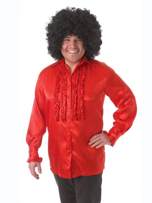Mens 60's 70's Groovy Hippie Disco Shirt Costume