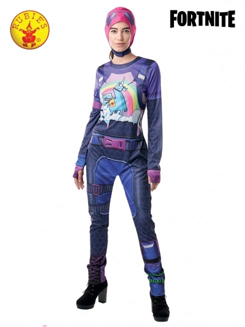 Ladies Costume Jumpsuit Brite Bomber Fortnite Zentai
