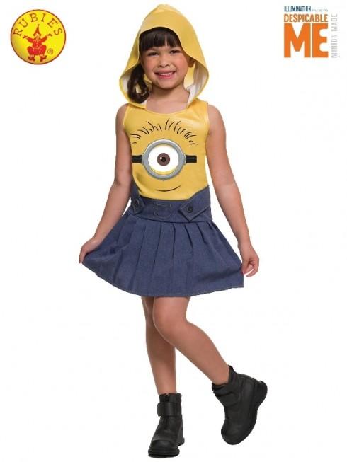 KIDS MINION FACE DRESS cl5905