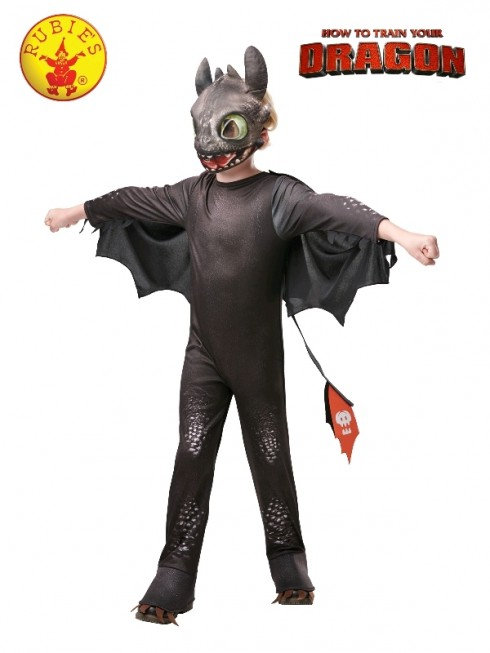 How to Train Your Dragon 3 Toothless Night Fury Child Boy Licensed Costume The Hidden World