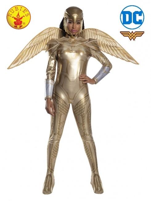 LADIES WONDER WOMAN 1984 GOLDEN ARMOUR COSTUME cl701009