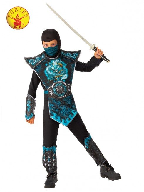 Child Blue Dragon Ninja Costume cl702080