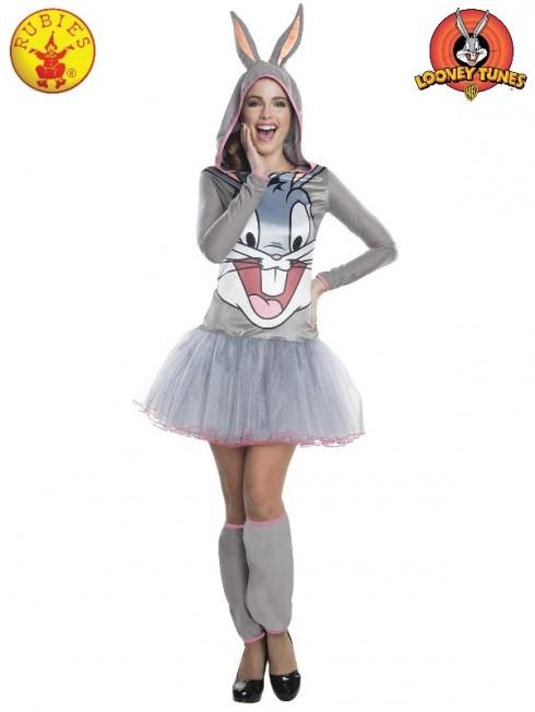 Ladies Bugs Bunny Hooded Tutu Dress cl810402