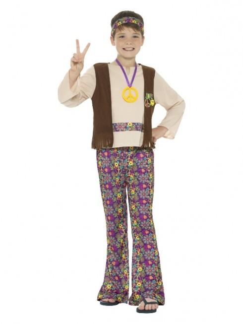 Kids Boys Hippie Costume Childs Hippy 1960s 1970s Retro Disco Kids Book Week