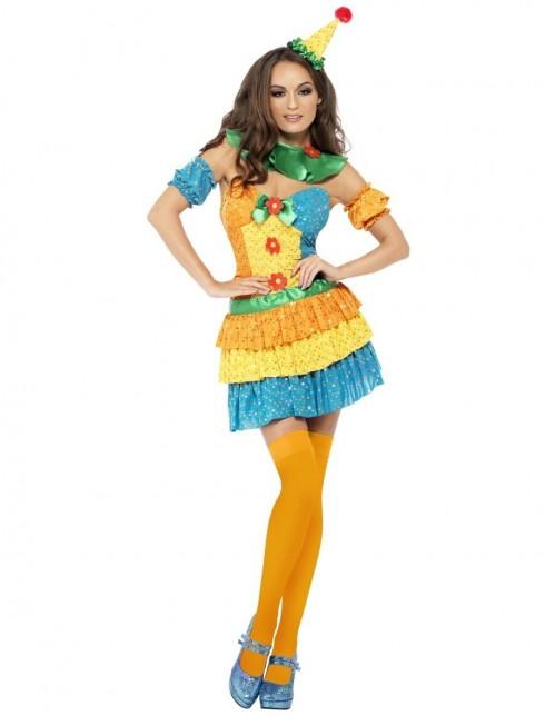 Ladies Clown Cutie Circus Costume cs24155