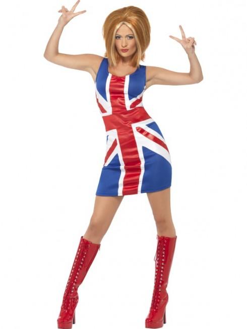 Women's 90's 90s 1990s Icon Spice Girls Pop Star Fancy Dress Up Celebrity Costume