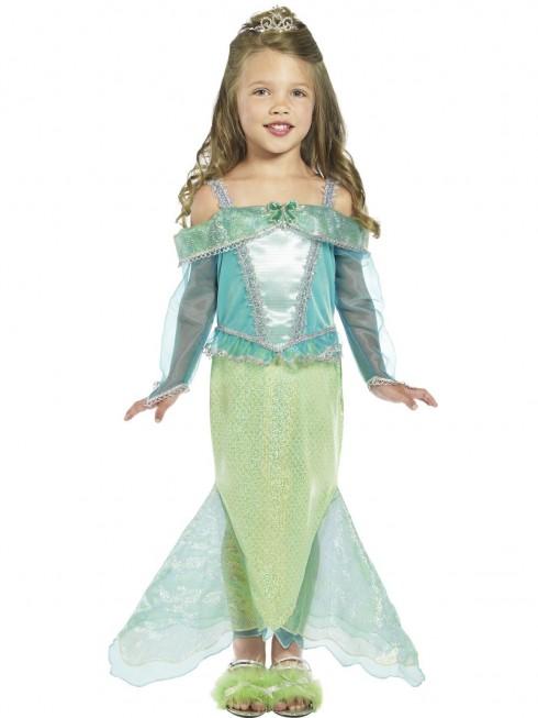 Little Mermaid Princess Ariel Fairytale Story Book Week Dress Up Girl Costume