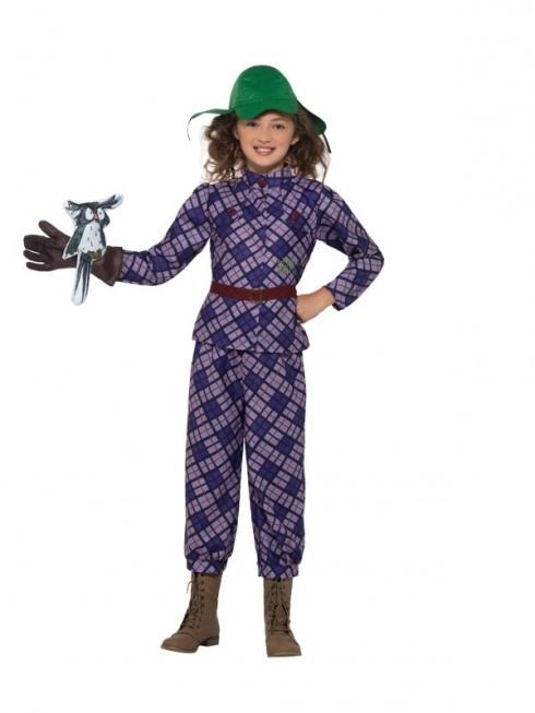 David Walliams Awful Auntie Girls Childs Kids Fancy Dress Kids Book Week Costume