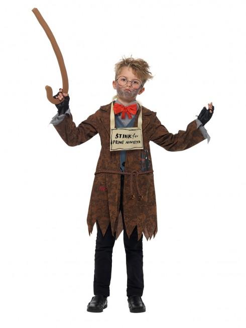 DAVID WALLIAMS COSTUME BOOK WEEK CHILDREN BOY GIRLS DELUXE MR STINK COSTUME