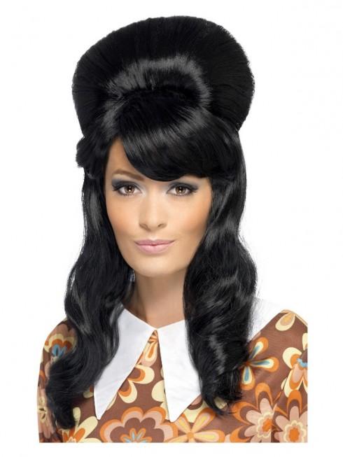 Ladies Black 60s Brigitte Bouffant Wig cs41410
