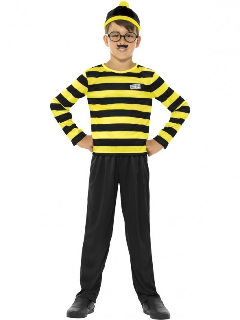 Where's Wally Boy's Costume Odlaw  CHILD Fancy Dress