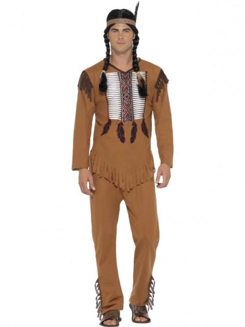 Native Western Warrior Costume CS45509_2