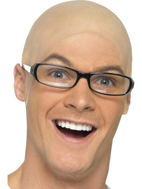 Unisex Funny Skinhead Party Dress Bald Head Fancy Cosplay film latex Skin Wig Cap Fake
