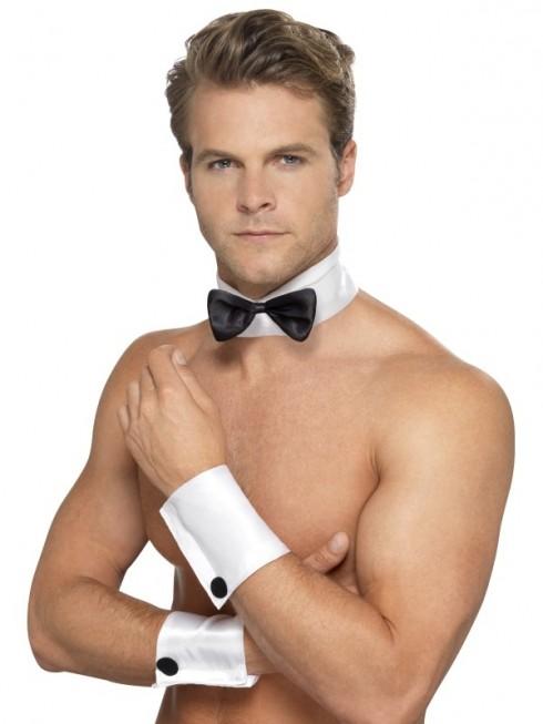 Male Stripper Set Costume Cuffs Collar