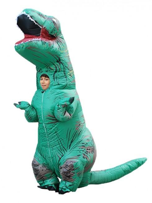 Green Kids T-Rex Blow up Dinosaur Inflatable Costume 2001nkidgreen