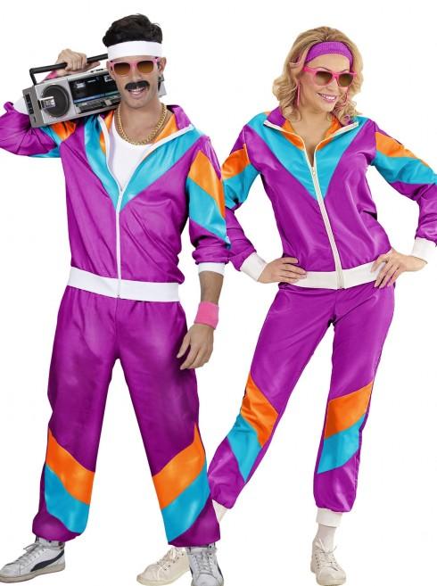Couple 80s Shell Suit Purple Tracksuit Costume lh237lh342purple