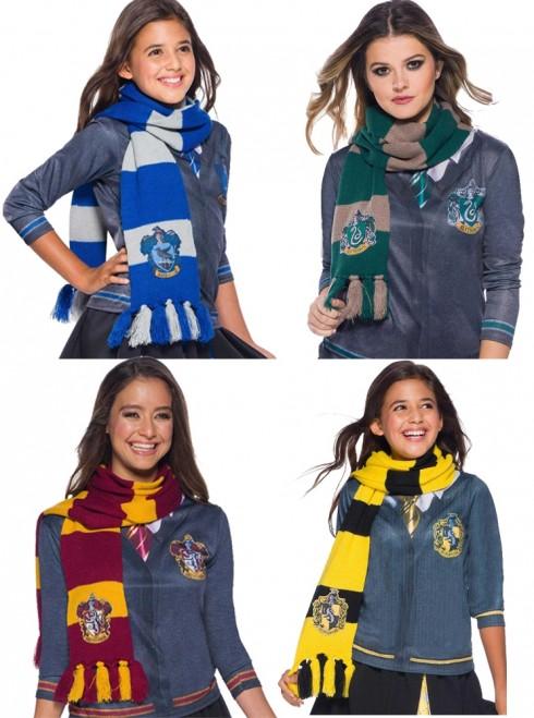 Hufflepuff Ravenclaw Gryffindor Slytherin Harry Potter scarf