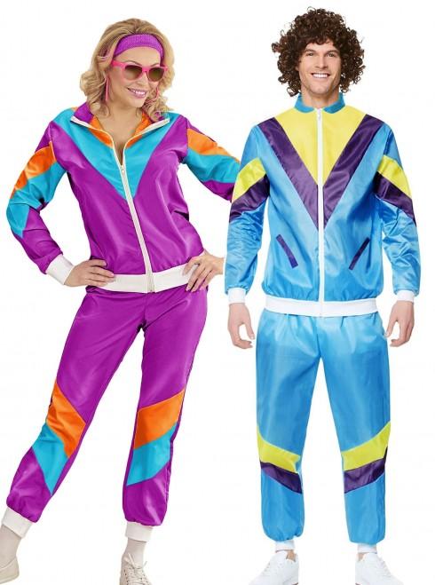 Couple 80s Shell Suit Blue Purple Tracksuit Costume ln1003lh342p