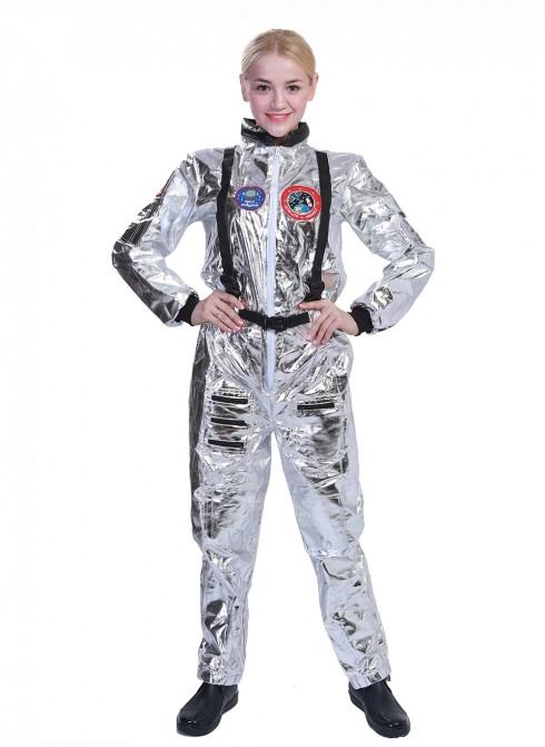 Ladies Astronaut Costume Jumpsuit