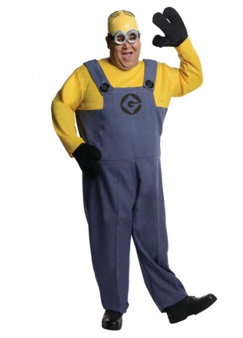 Minion Dave Costume Despcicable Me 2 Mens Adult Fancy Party Dress Plus Size