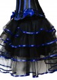 Black with blue Satin skirt