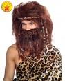 Caveman Jungle Wig Beard Set Mens Costume Stone Age Wild Man Hagrid