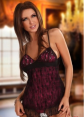 Baby Dolls - Purple Rhinestone Babydoll with G string