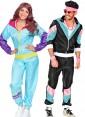 Couple 80s Shell Suit Black Blue Tracksuit Costume lh237bklh342blue