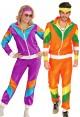 Couple 80s Shell Suit Purple Orange Tracksuit Costume lh237olh342p