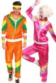 Couple 80s Shell Suit Orange Pink Tracksuit Costume lh237oln1002