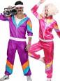 Couple 80s Shell Suit Purple Pink Tracksuit Costume lh237pln1002