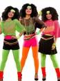 Pink String Vest Mash Top Net Neon Punk Rocker Fishnet Rockstar Dance 80s 1980s Costume Accessory