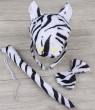 Zebra Headband Bow Tail Set Kids Animal Farm Zoo Party Performance Headpiece